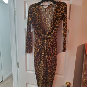Leopard Print Jumpsuit Size Medium